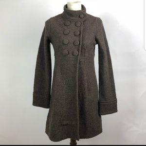 Grey zara wool coat